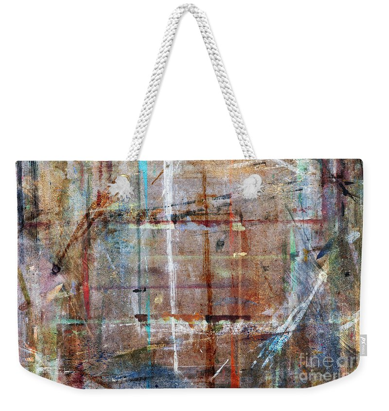 Artwork Weekender Tote Bag featuring the painting Abstract by Michal Boubin