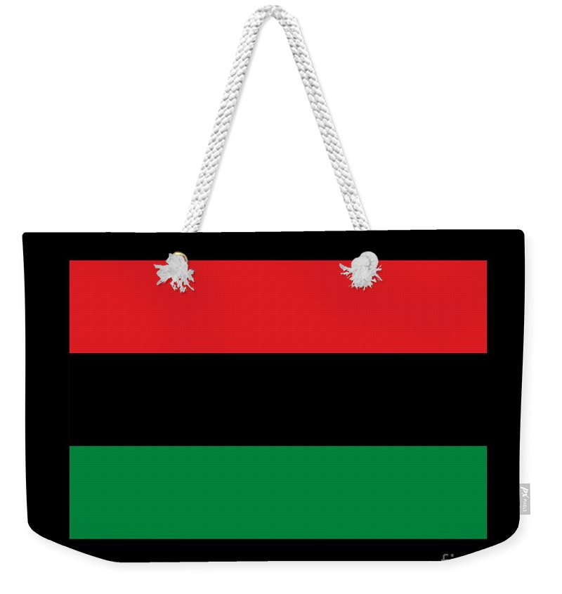 Flag Weekender Tote Bag featuring the digital art Afro-american Flag by Frederick Holiday
