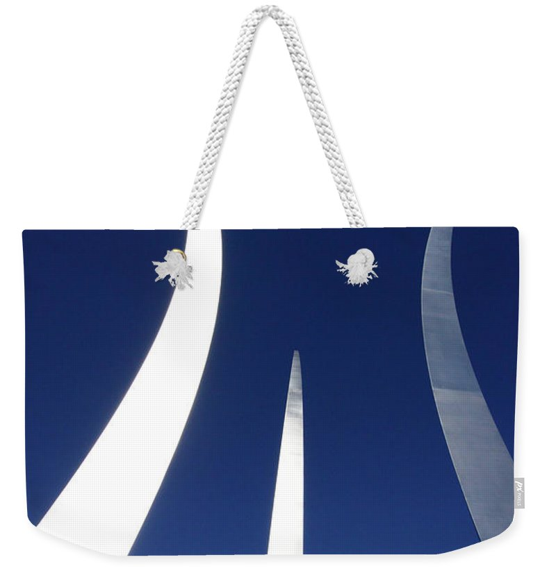 Air Force Memorial Weekender Tote Bag featuring the photograph Air Force Monument - Arlington by Paul W Faust - Impressions of Light