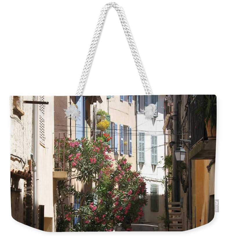 Alley Weekender Tote Bag featuring the photograph Alley - Provence by Christiane Schulze Art And Photography