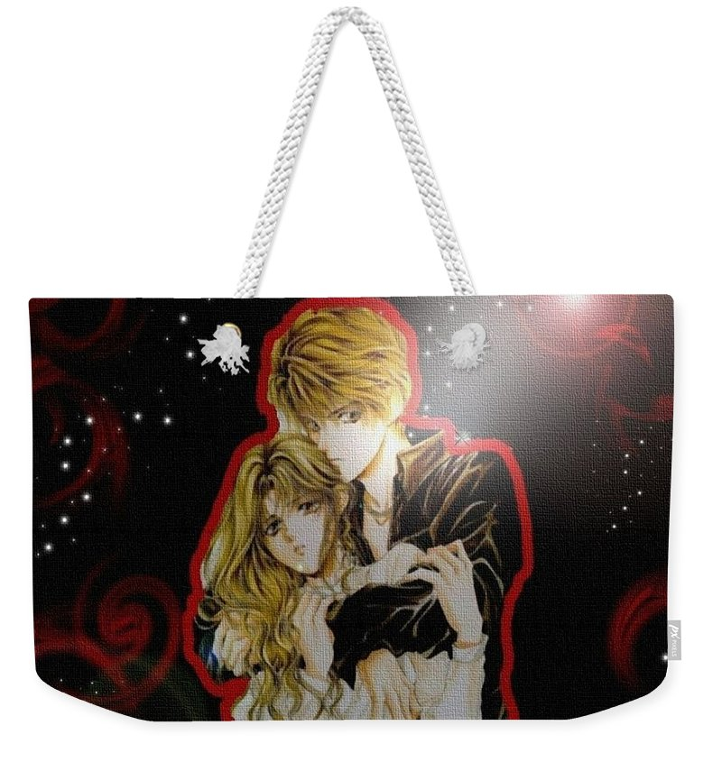 Angel Sanctuary Weekender Tote Bag featuring the digital art Angel Sanctuary by Super Lovely