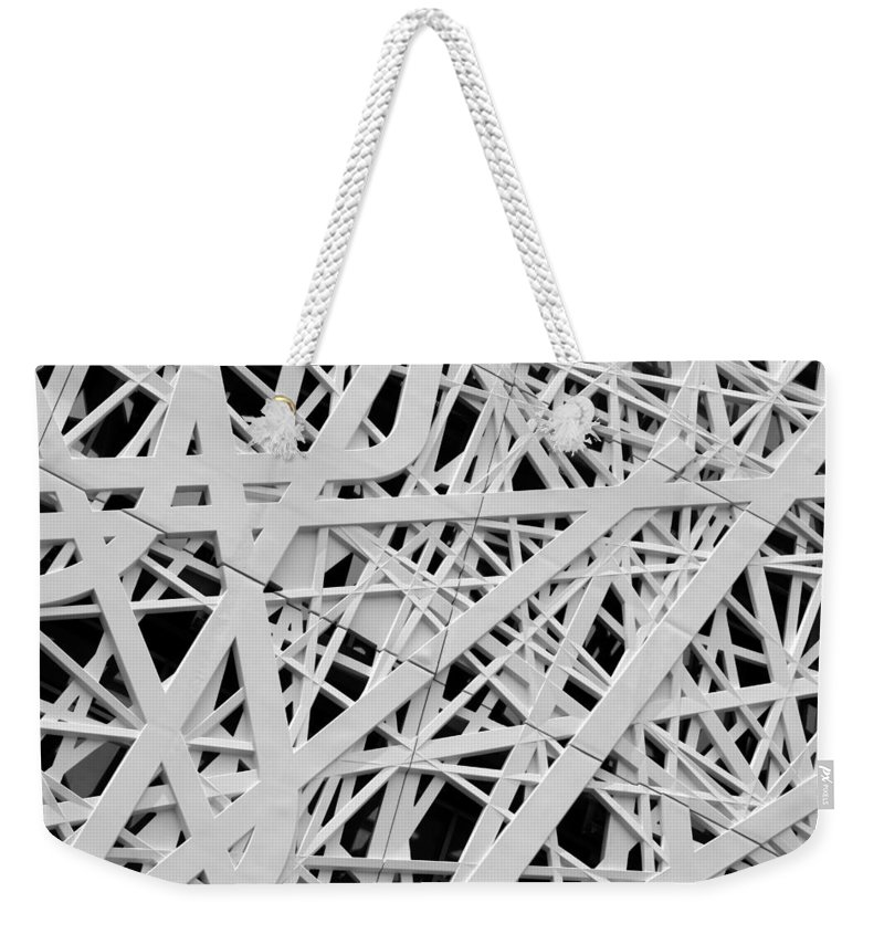 Modern Weekender Tote Bag featuring the photograph Architectural Details by Valentino Visentini