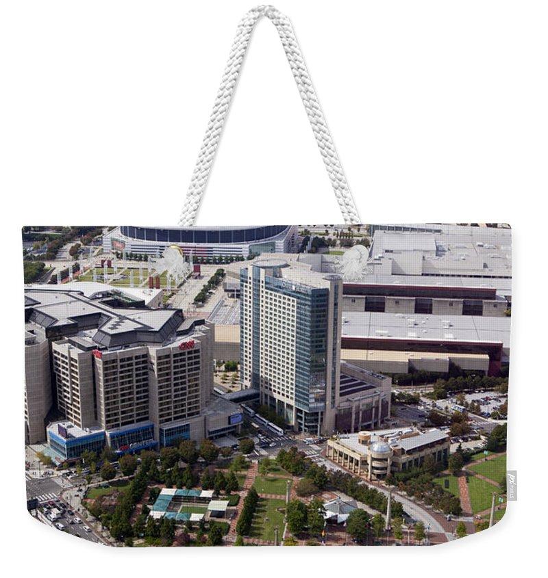Skyline Weekender Tote Bag featuring the photograph Atlanta Georgia by Anthony Totah