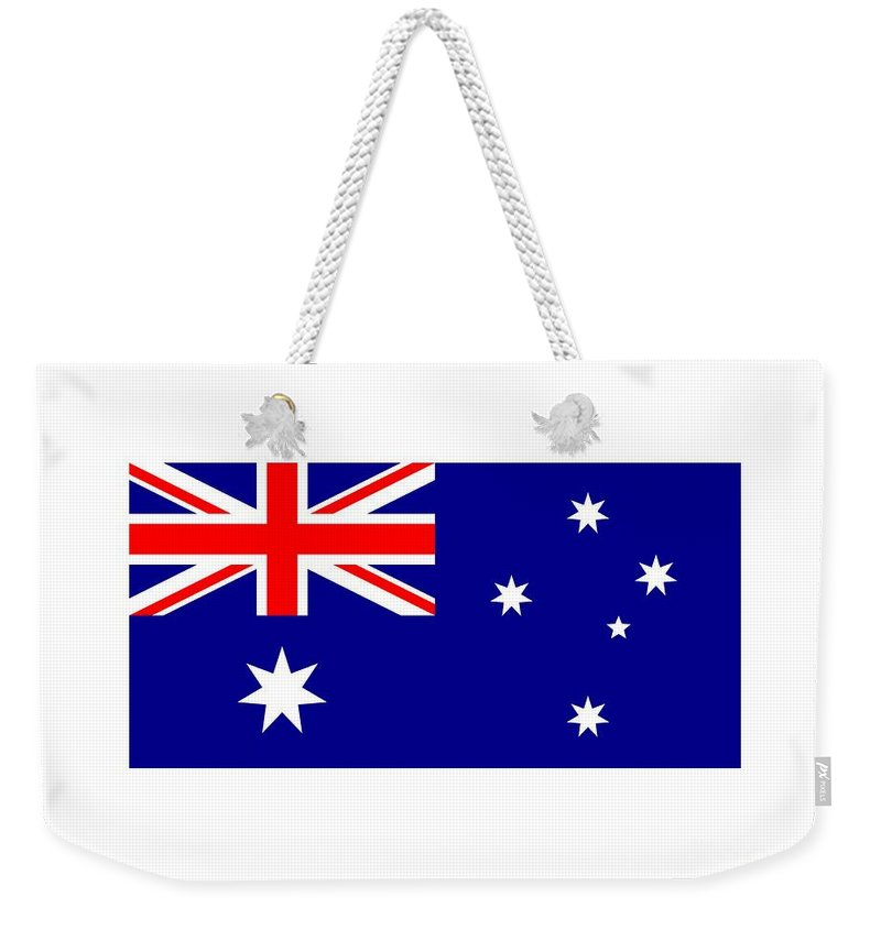 Flag Weekender Tote Bag featuring the digital art Australia Flag by Frederick Holiday