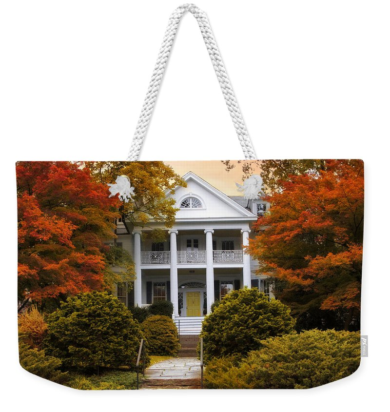 House Weekender Tote Bag featuring the photograph Autumn Hideaway by Jessica Jenney