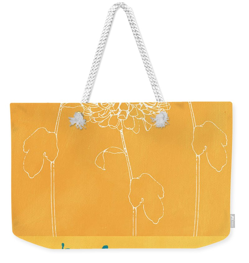 Balance Weekender Tote Bag featuring the painting Balance by Linda Woods