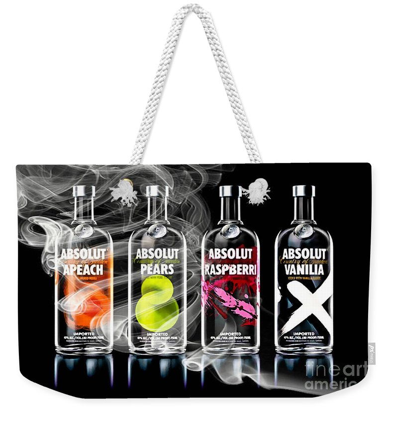 Cocktails Weekender Tote Bag featuring the mixed media Bar Collection by Marvin Blaine