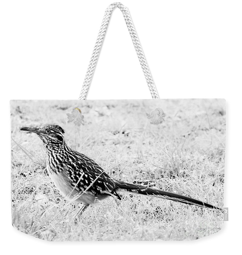 Landscape Weekender Tote Bag featuring the photograph Black And White by Jeff Downs