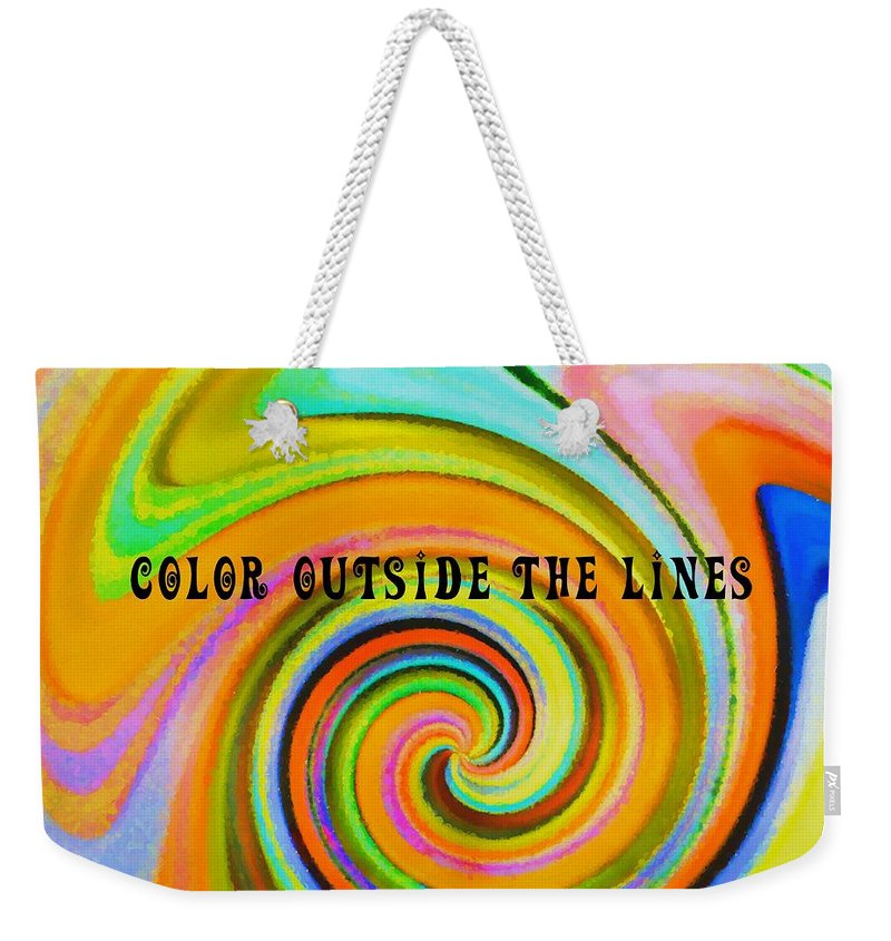 Blown Weekender Tote Bag featuring the photograph Spiraling Glass Quote by JAMART Photography