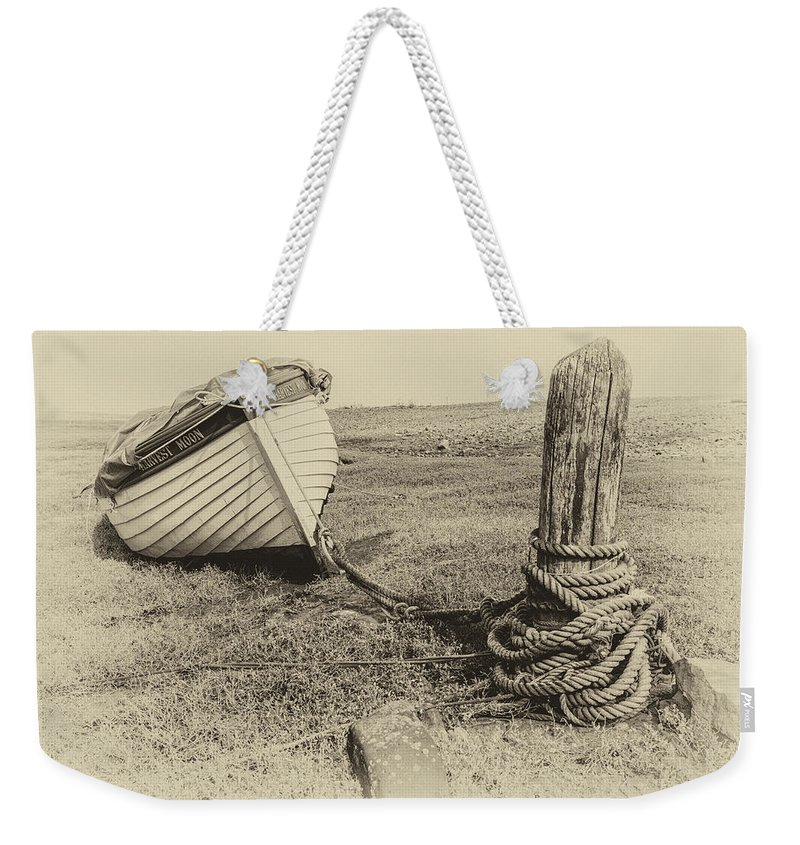 Boat Weekender Tote Bag featuring the photograph Boat At Porlock Weir. by Paul Cullen