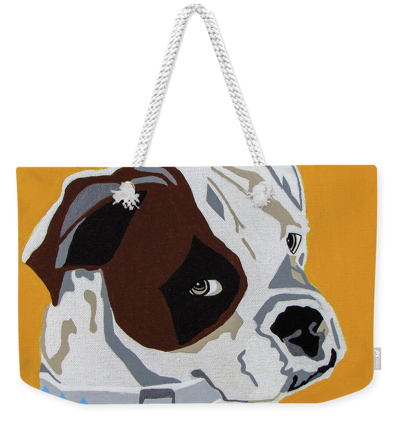 Boxer Weekender Tote Bag featuring the painting Boxer by Slade Roberts