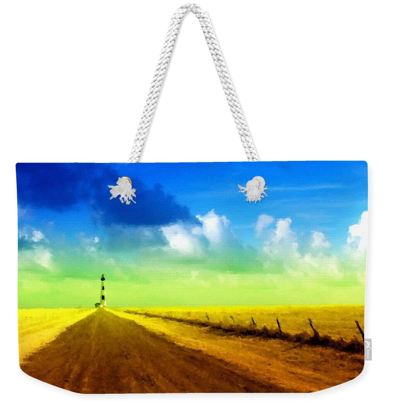 B Weekender Tote Bag featuring the digital art By Nature by Usa Map