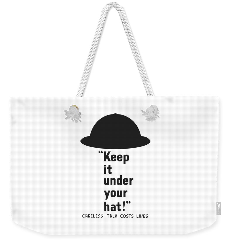 World War Ii Weekender Tote Bag featuring the digital art Careless Talk Costs Lives by War Is Hell Store