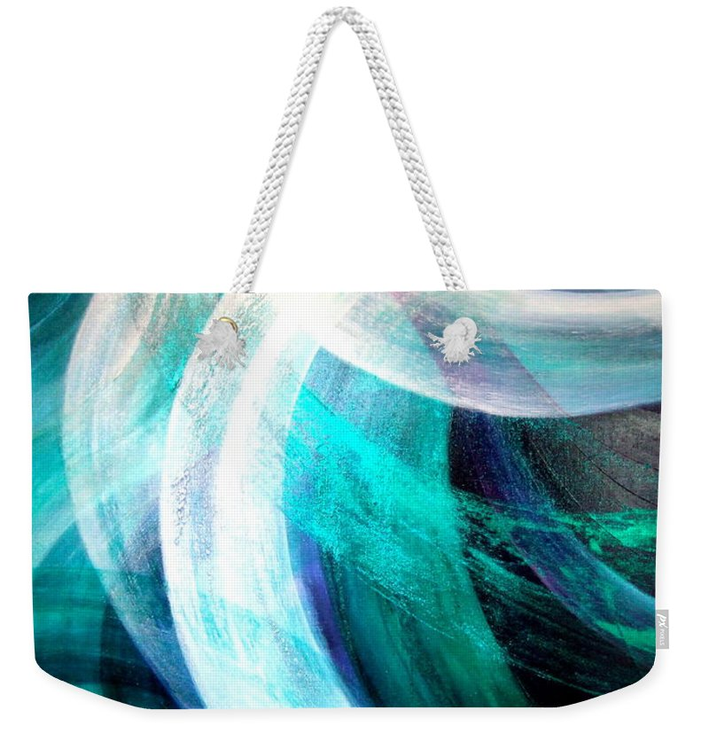 Circulation Weekender Tote Bag featuring the painting Circulation by Kumiko Mayer