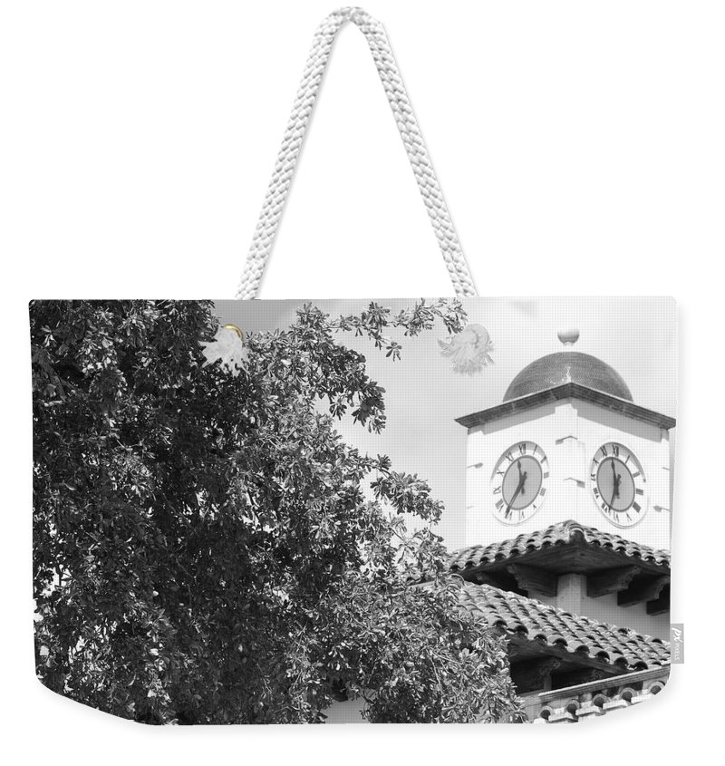 Clock Weekender Tote Bag featuring the photograph Clock Tower by Rob Hans