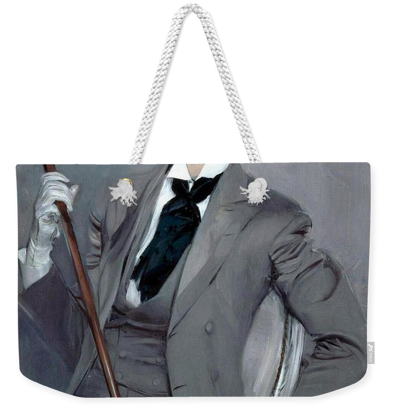 Giovanni Boldini Weekender Tote Bag featuring the painting Count Robert De Montesquiou by Giovanni Boldini