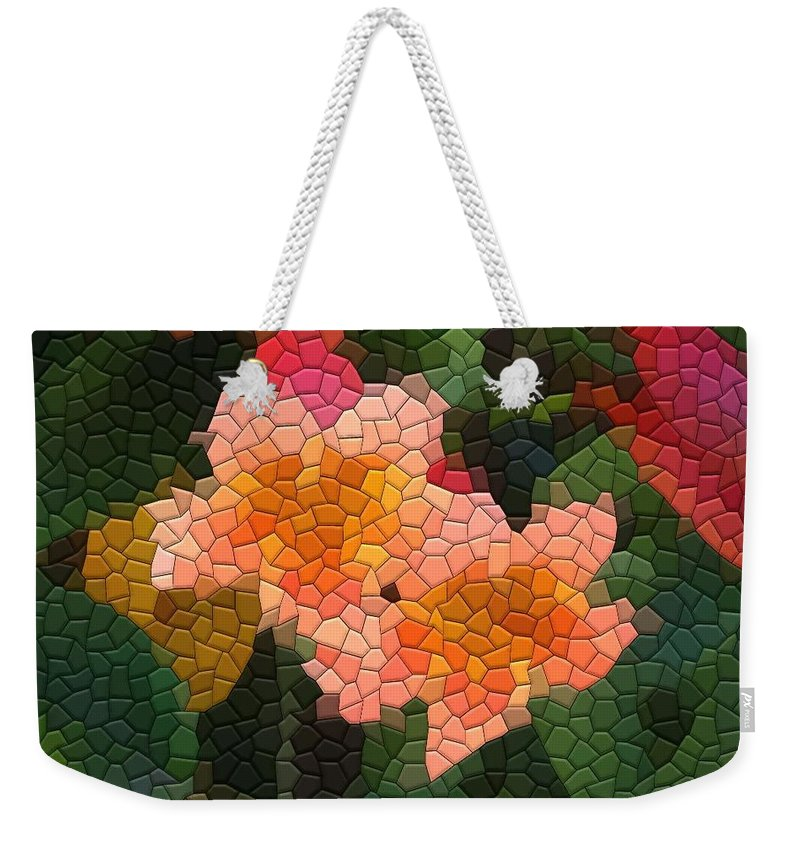 Vine Weekender Tote Bag featuring the photograph Cross Vine by Kathryn Meyer
