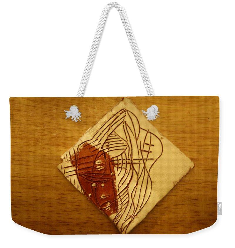 Jesus Weekender Tote Bag featuring the ceramic art Dreams - Tile by Gloria Ssali