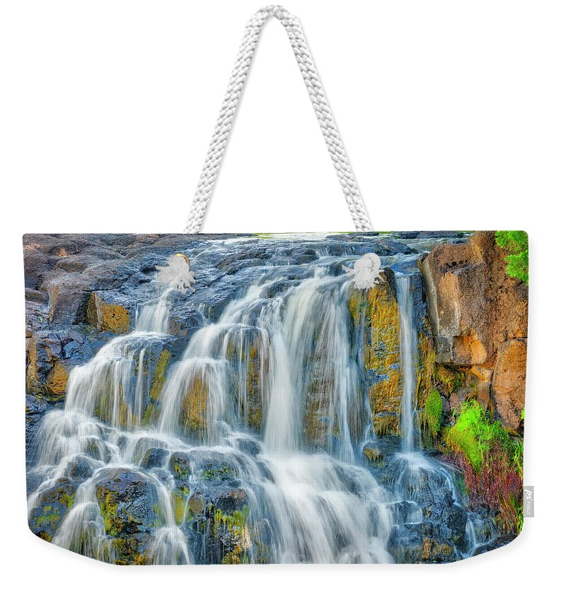 Americas Weekender Tote Bag featuring the photograph Early Morning At The Upper Falls 2 by Roderick Bley