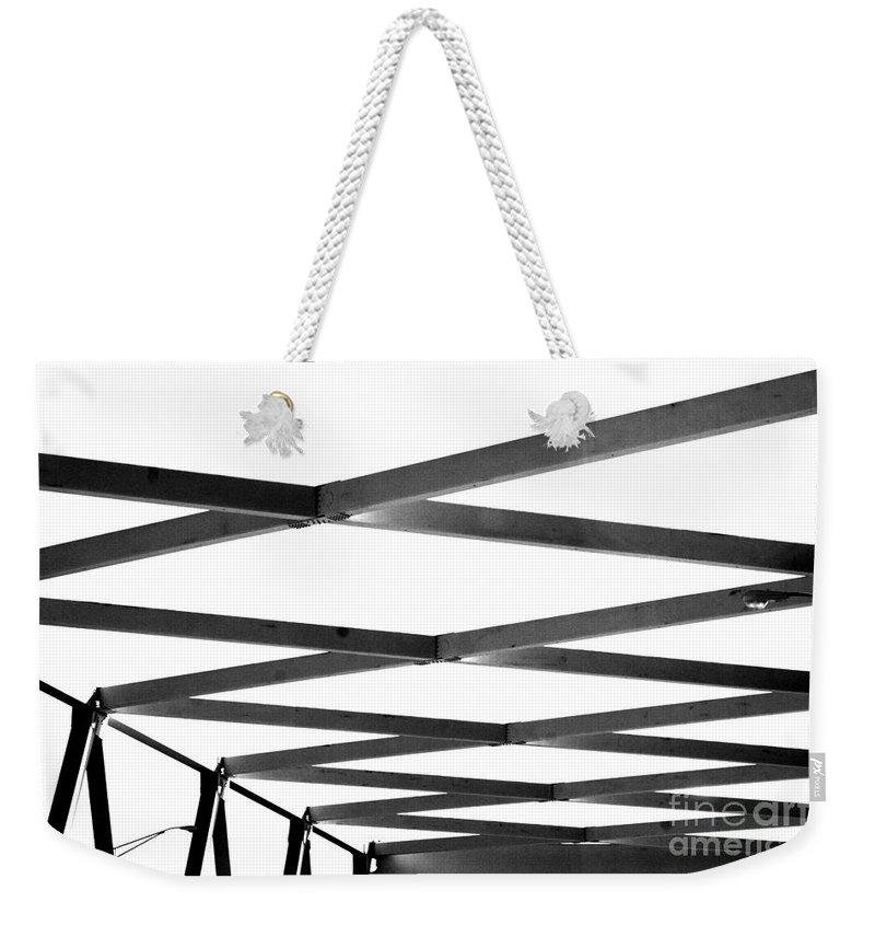 Bridge Weekender Tote Bag featuring the photograph Exes by Jamie Lynn
