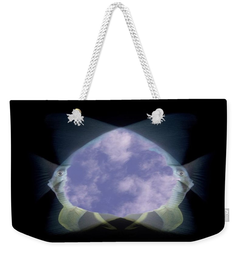 Fish Weekender Tote Bag featuring the photograph 2 Faced Fishy by Tim Allen