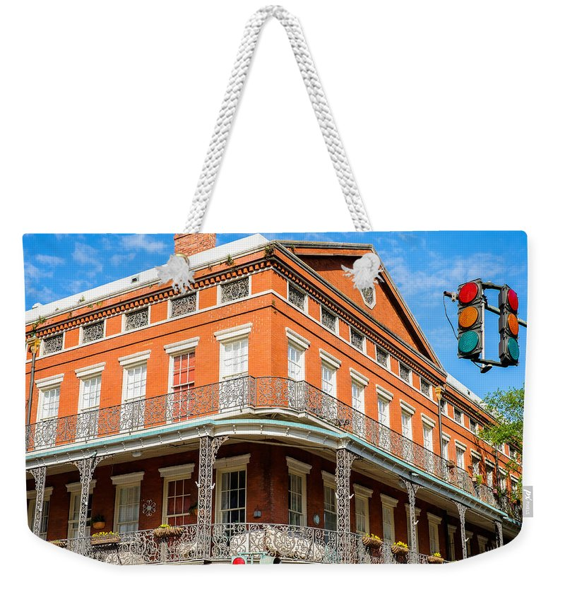 Architecture Weekender Tote Bag featuring the photograph French Quarter by Raul Rodriguez