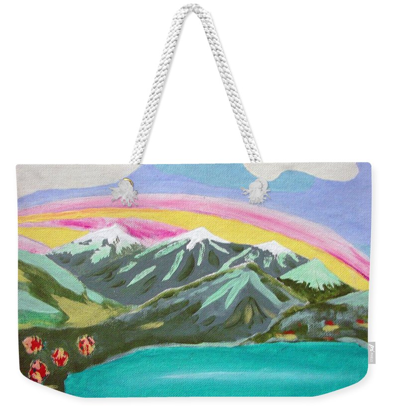 Impressionist Painting Weekender Tote Bag featuring the painting From The Mountains To The Sea by J R Seymour