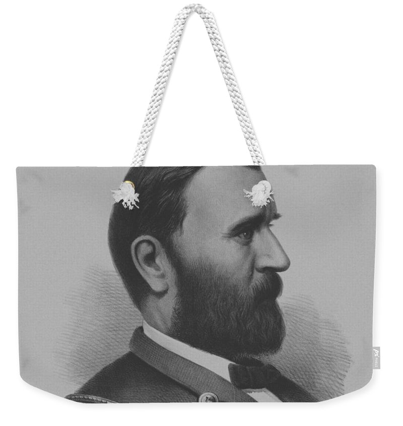 General Grant Weekender Tote Bag featuring the mixed media General Grant by War Is Hell Store
