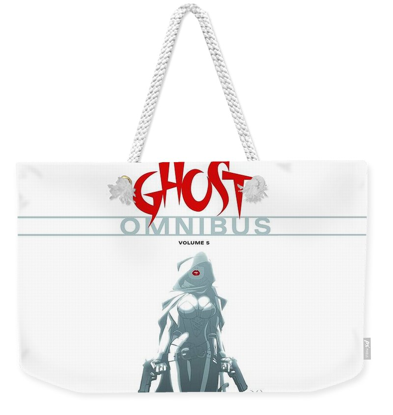Ghost Weekender Tote Bag featuring the digital art Ghost by Super Lovely