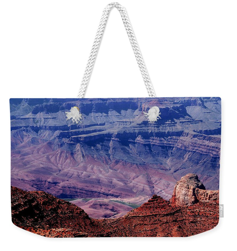 Grand Canyon Weekender Tote Bag featuring the photograph Grand Canyon View by Susanne Van Hulst