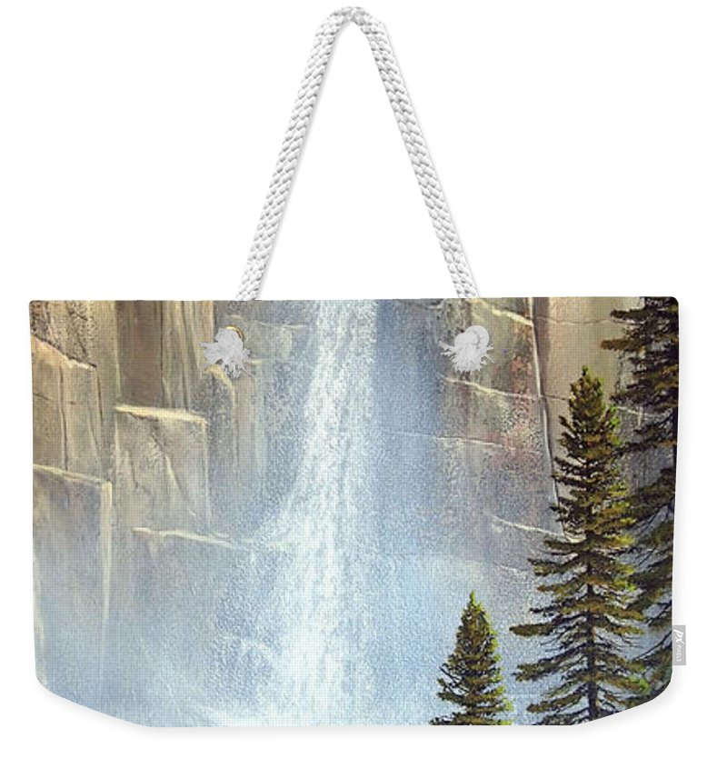 Great Falls Weekender Tote Bag featuring the painting Great Falls by Frank Wilson
