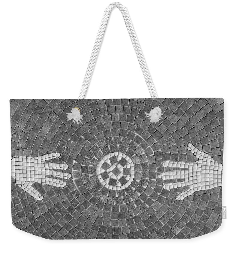 Black And White Weekender Tote Bag featuring the photograph Hans Mosaic by Rob Hans
