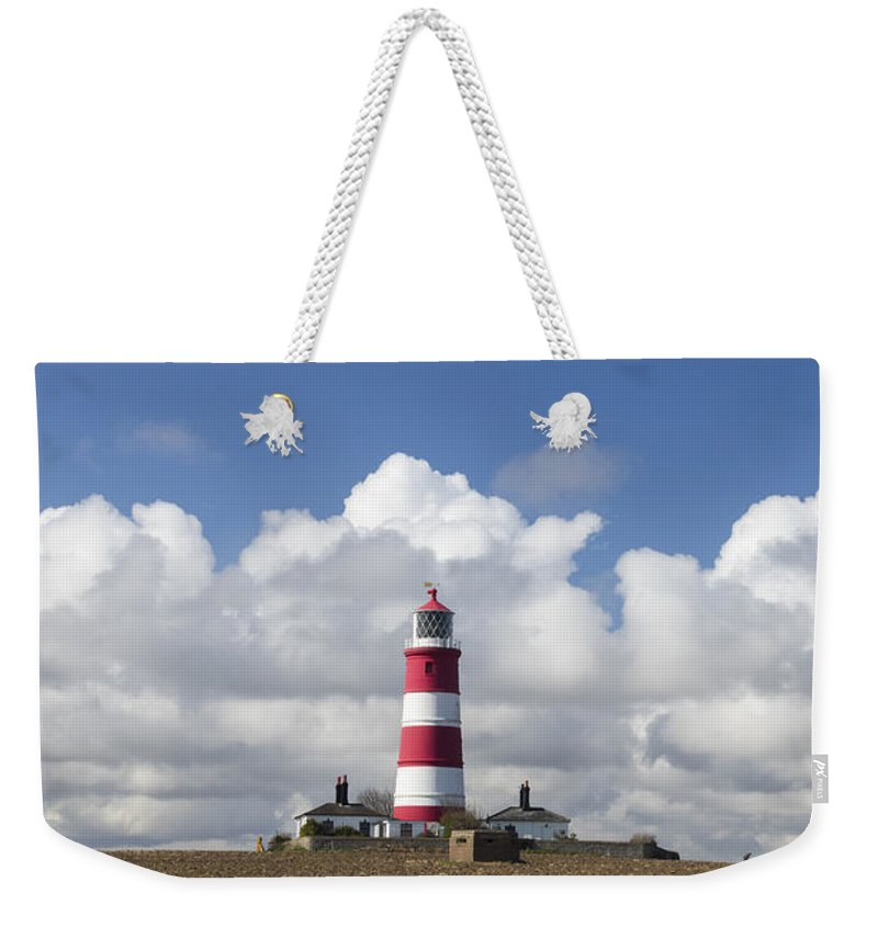 Beacon Weekender Tote Bag featuring the photograph Happisburgh Lighthouse by Chris Smith