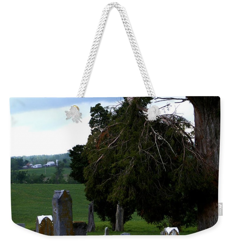 Landscape Weekender Tote Bag featuring the photograph Heroes Of Olmsted by Rachel Christine Nowicki