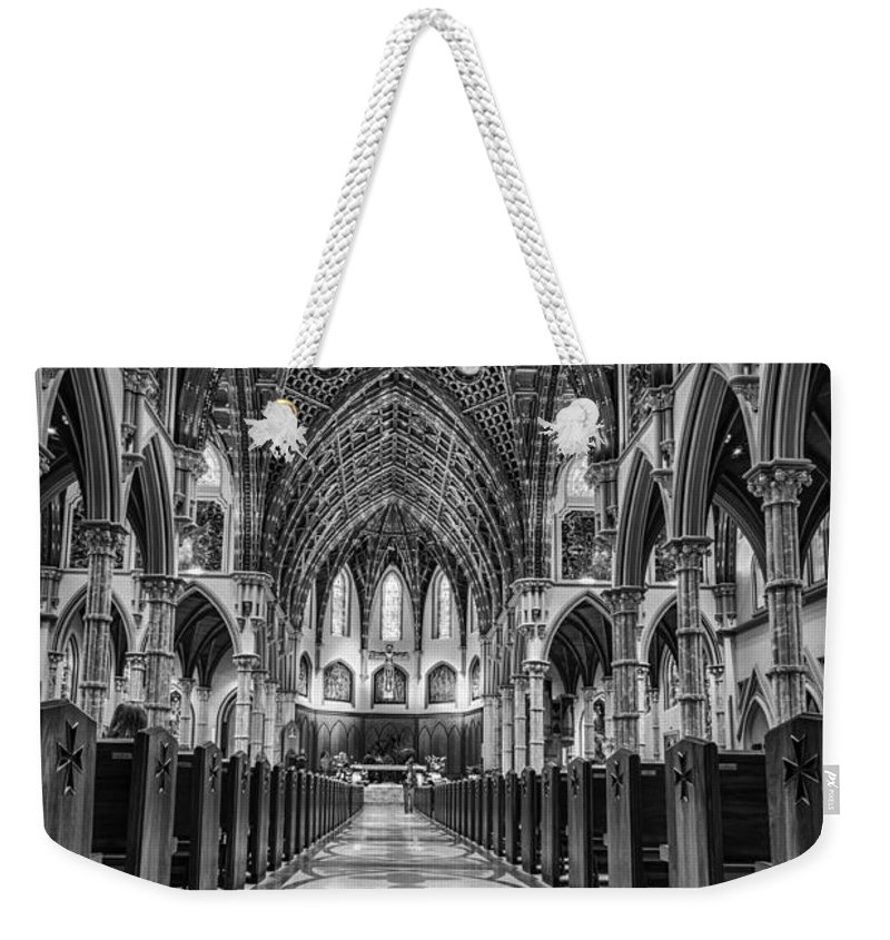Holy Name Weekender Tote Bag featuring the photograph Holy Name Cathedral by Mike Burgquist