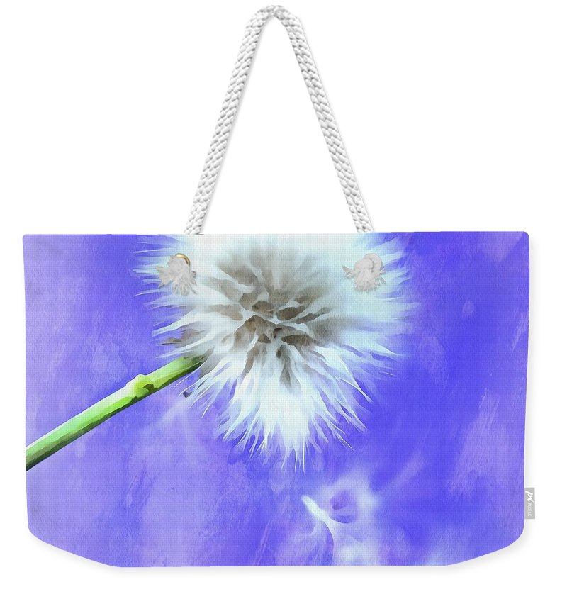 Dandelion Weekender Tote Bag featuring the photograph Hopeful by Krissy Katsimbras
