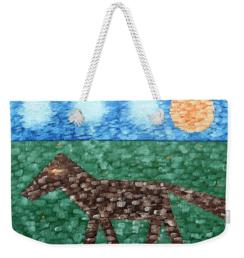 Horse Weekender Tote Bag featuring the painting Horse by Patrick J Murphy