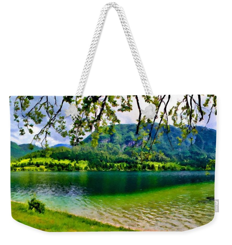 Landscape Weekender Tote Bag featuring the digital art Images Landscape by Usa Map
