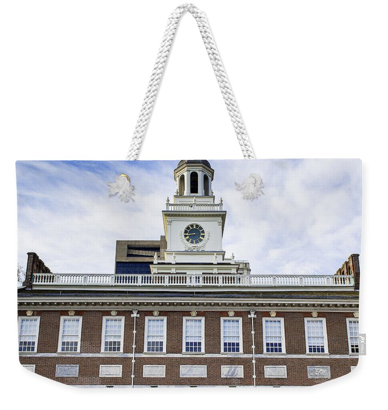 American Weekender Tote Bag featuring the photograph Independence Hall Philadelphia by John Greim