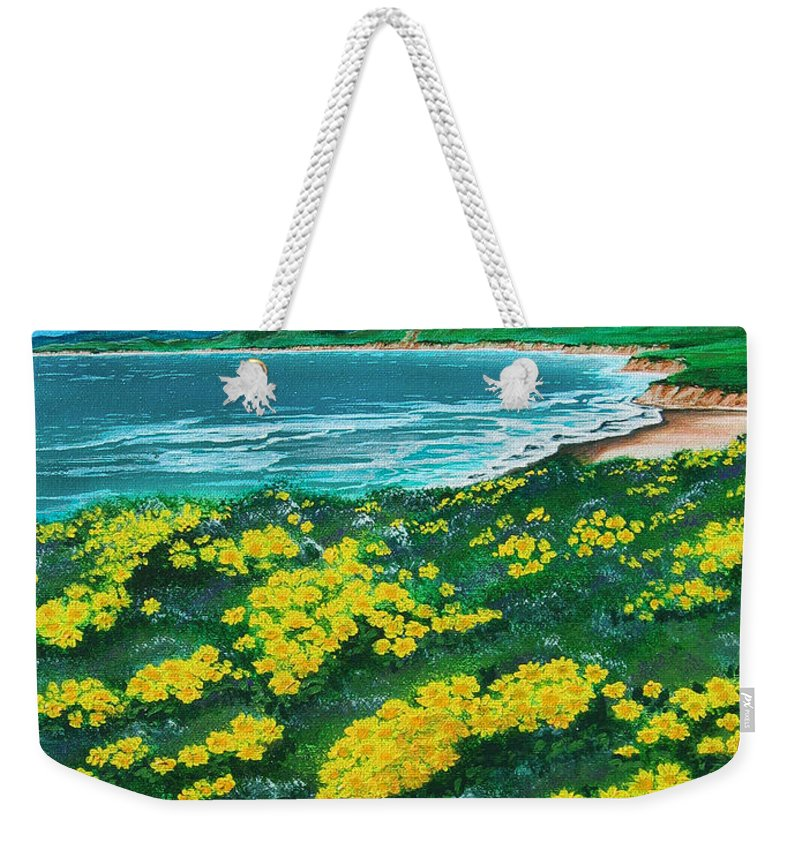 Jalama Weekender Tote Bag featuring the painting Jalama Beach by Angie Hamlin