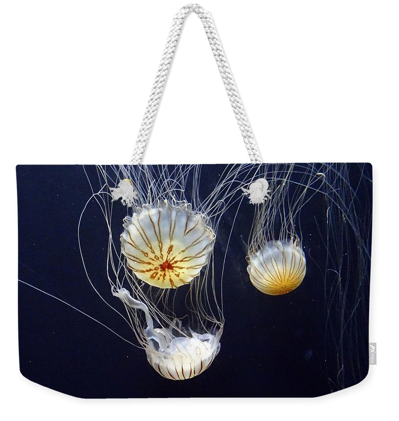Fish Weekender Tote Bag featuring the photograph Jellyfish by FL collection
