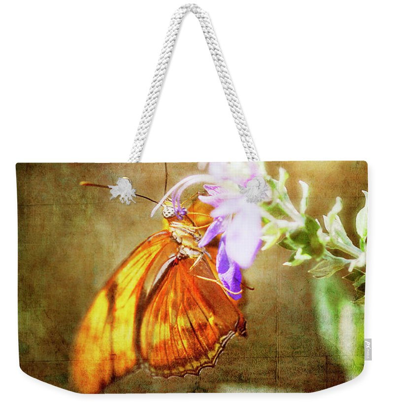 Butterfly Weekender Tote Bag featuring the photograph Julia Butterfly by Saija Lehtonen