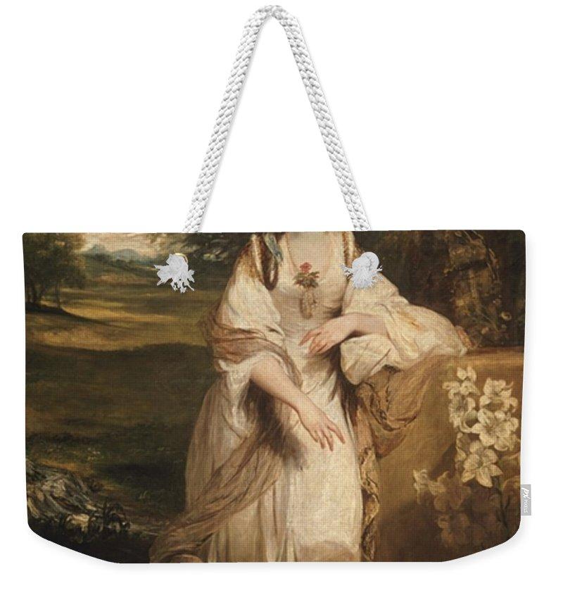 Sir Joshua Reynolds 1723–1792  Lady Bampfylde Weekender Tote Bag featuring the painting Lady Bampfylde by Joshua Reynolds