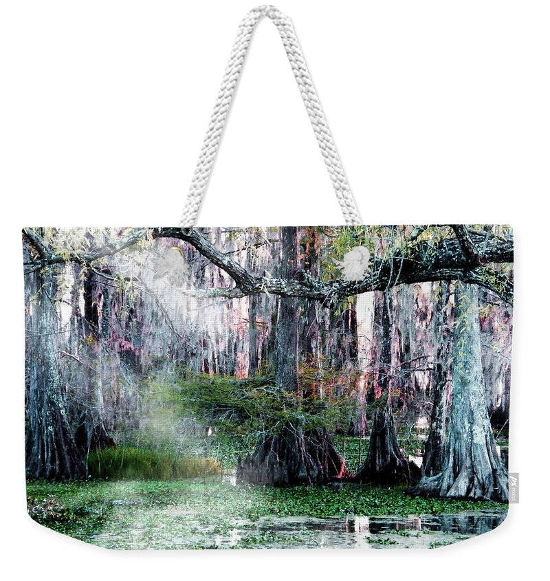 Swamp Weekender Tote Bag featuring the photograph Lake Martin La by Lizi Beard-Ward