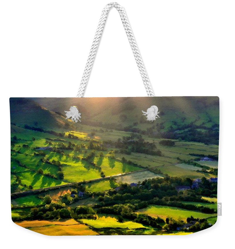 Landscape Weekender Tote Bag featuring the digital art Landscape By by Usa Map