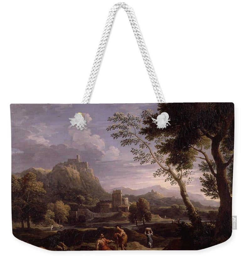 Jan Frans Flowers 1662 - 1749 Landscape 2 Weekender Tote Bag featuring the painting Landscape by Jan Frans