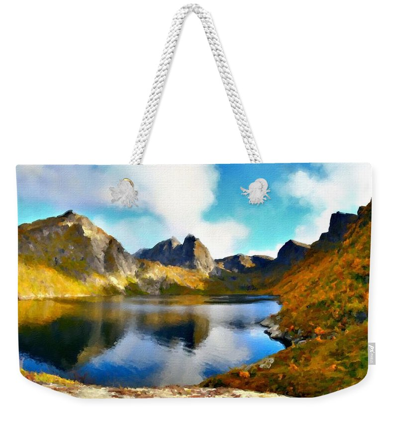 Paint Weekender Tote Bag featuring the digital art Landscape Of by Usa Map