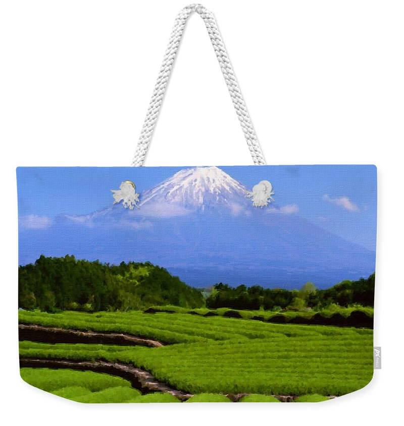 Acrylic Weekender Tote Bag featuring the digital art Landscape Pics by Usa Map