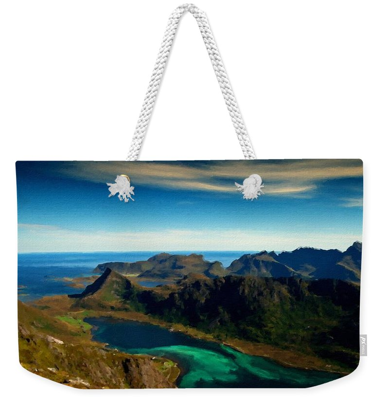 Great Weekender Tote Bag featuring the digital art Landscapers by Usa Map