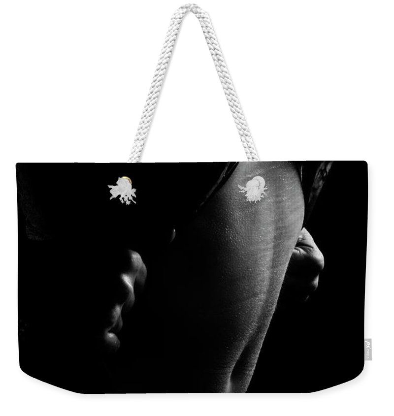 Nude Weekender Tote Bag featuring the photograph Liquid Latex 2 by Pavel Jelinek